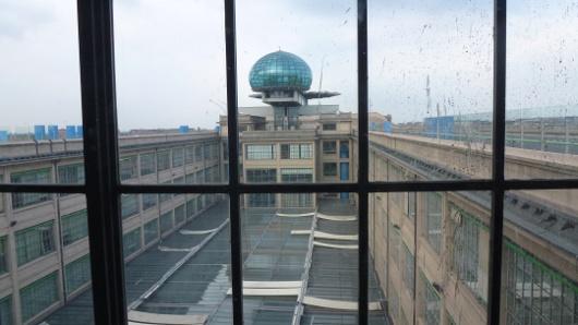 vue de l'ascenseur du restaurant La Pista