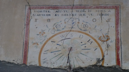 cadran solaire à Fouillouze