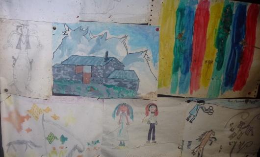 dessins à la bergerie supérieure de Mary