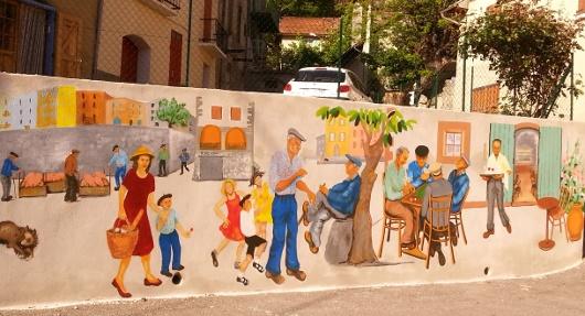 fresque au village d'Espinasses