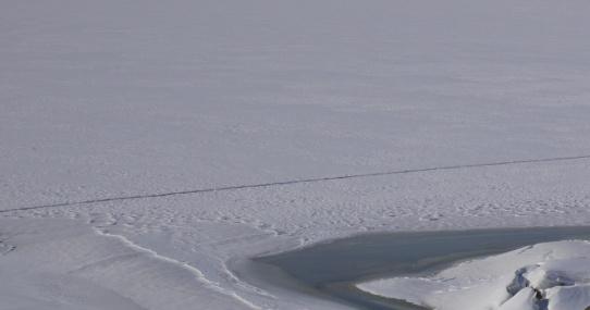 trace sur le lac
