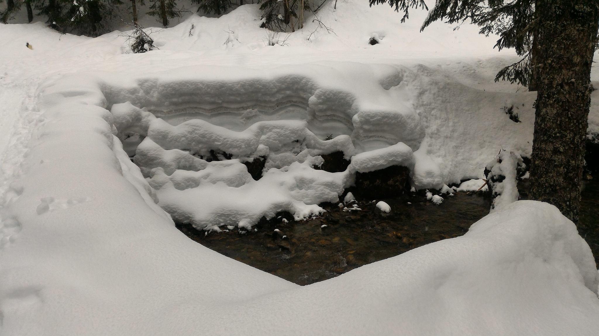 strates de neige